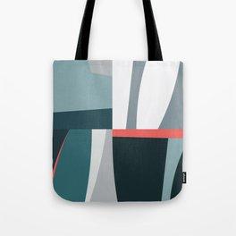 Organic Geometric 01 Blue Tote Bag