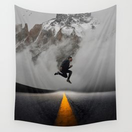 Magnetic Levitation - Power Mountain by GEN Z Wall Tapestry