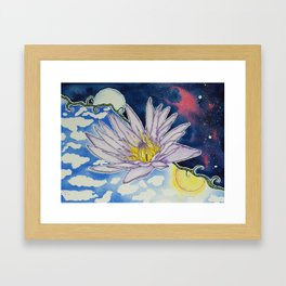 Night and Day Water Lily Framed Art Print
