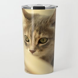 pussy at vacation Travel Mug