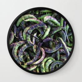 kipfler beans Wall Clock