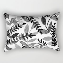 Watercolor branches - black and white Rectangular Pillow