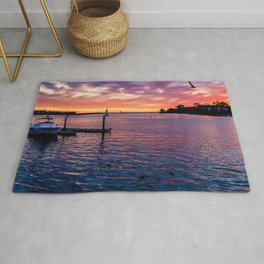 Sunset Colored Harbor Rug