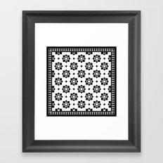 Victorian Floor Tile Pattern #3 Framed Art Print