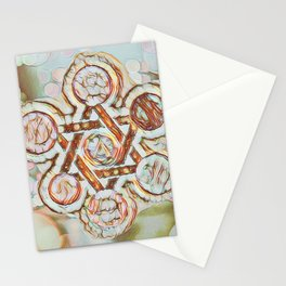 Rose Gold Star of David Stationery Cards
