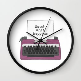Watch What Happens Wall Clock