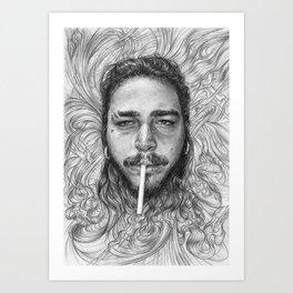 Malone BnW Art Print