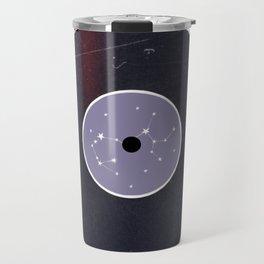 Vinyl Record Star Sign Art | Sagittarius Travel Mug
