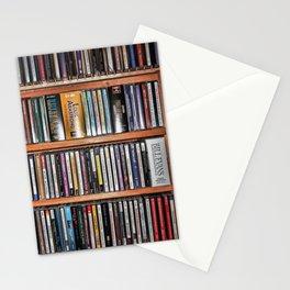 CD's on a Shelf Stationery Cards
