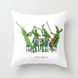 String Beans Throw Pillow