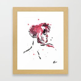 Red Head With Freckled Back Framed Art Print