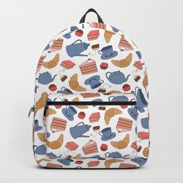 Tea Time Doodle Pattern Backpack
