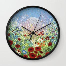 Moonlight Flower Dance 1 Wall Clock