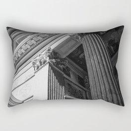 Black and White Pantheon Interior Architectural Photograph Rectangular Pillow