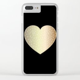 Low poly heart 1 Clear iPhone Case