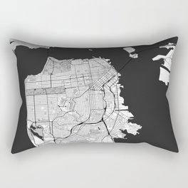 San Francisco Map Gray Rectangular Pillow