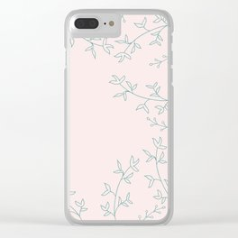 Soft flora pattern Clear iPhone Case