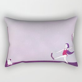 Little Girl With Balloons 02 Rectangular Pillow