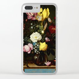 """Ambrosius Bosschaert the Elder """"Bouquet of Flowers in a Glass Vase"""" Clear iPhone Case"""