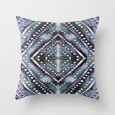Ice Storm Dark Throw Pillow