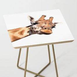 Giraffe portrait Side Table