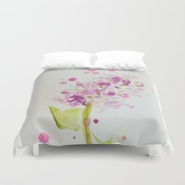 Lilac Sweet Pink Blossom watercolor by CheyAnne Sexton Duvet Cover