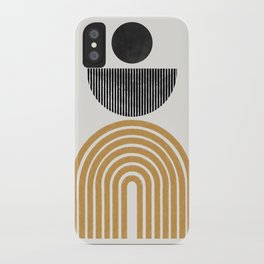 Rainbow and Moon iPhone Case