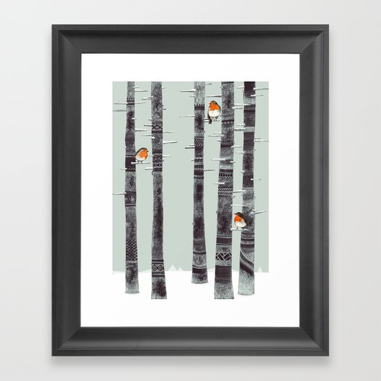 Robin Trees Framed Art Print