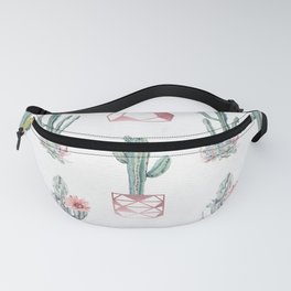 Rose Gold Potted Cactus with Succulents Fanny Pack