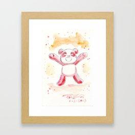 Hopeful Panda Framed Art Print