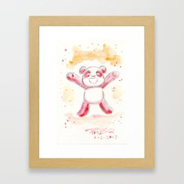 Hopeful Panda Framed Art Print