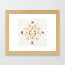 Ignacio: Twin Flame Dreamtime Mandala Framed Art Print