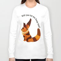 nausicaa Long Sleeve T-shirts featuring Teto the Fox-Squirrel by HSuits