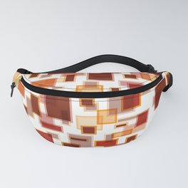 Red Abstract Rectangles Fanny Pack