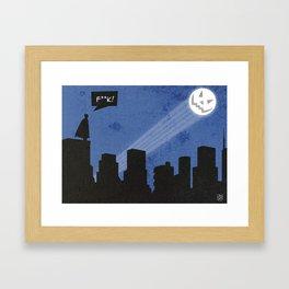 Bat-loween Framed Art Print
