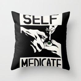 Self-medicate: Smoker Throw Pillow
