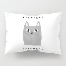 Caturday / poster, cat, art print, pictures, scandinavian, nursery, deco, family, art, animal, petti Pillow Sham