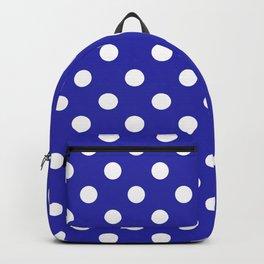 Polka Dots (White & Navy Pattern) Backpack