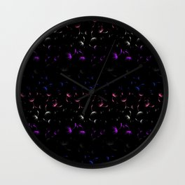 Dandelion Seeds Genderfluid Pride (black background) Wall Clock