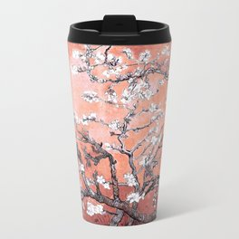 Van Gogh Almond Blossoms : Deep Peach Travel Mug