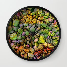 Stones and Palms - Yellow Power Wall Clock