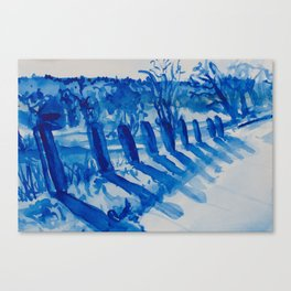 Summer Afternoon Fence Posts Canvas Print