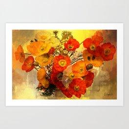 Poppy Expressions Kunstdrucke
