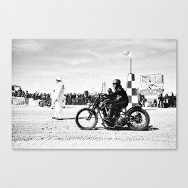 The Race of Gentlemen bw 14 Canvas Print