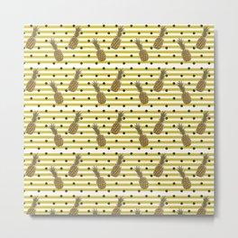 Fun with Pineapples -dots stripes Metal Print