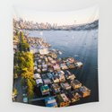 Houseboats on Lake Union by rudywillingham