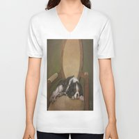 downton abbey V-neck T-shirts featuring Abbey by Ambre Wallitsch