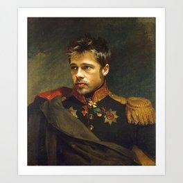 Brad Pitt - replaceface Art Print