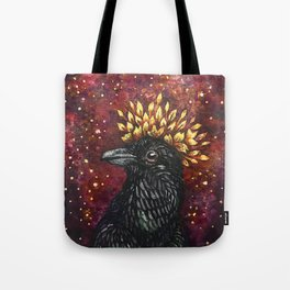 Leaf Crown Crow Tote Bag