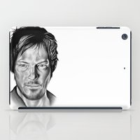 daryl dixon iPad Cases featuring Daryl Dixon by 13 Styx